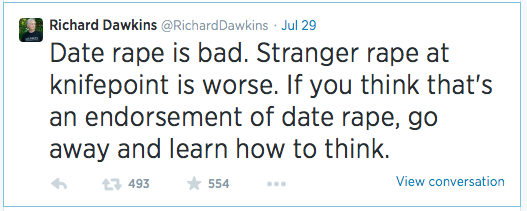 Dawkins Rape tweet 2