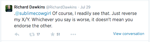 Dawkins Tweet X Y